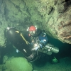 Blauhöhlensystem: Düse im Blautopf; Foto: Andreas Kücha (c) Arge Blautopf