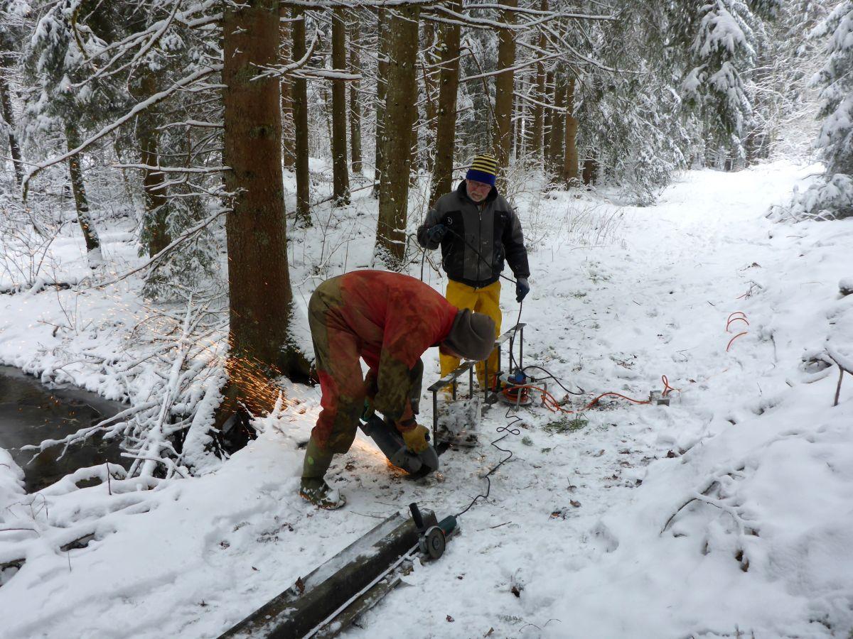 Leitereinbau am 18. März 2018 (Foto Wolfgang Luppold)