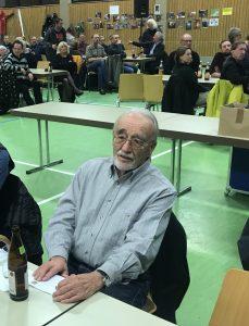 Der über 90 Jahre Jahre alte Höhlenpionier Walter Eisele aus Linsenhofen.